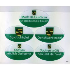 lustige sachsen aufkleber mit spruch u a f rs auto 3d 12x 7cm ottos. Black Bedroom Furniture Sets. Home Design Ideas